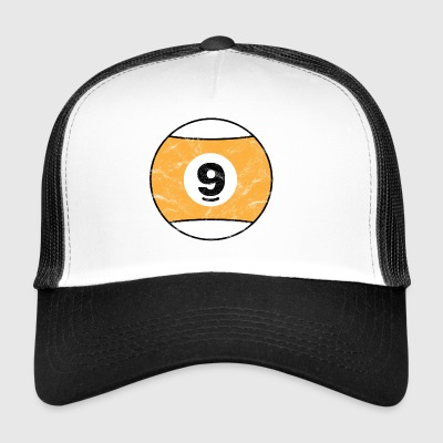 Billiard Billiard Ball yellow nine nine vintage - Trucker Cap
