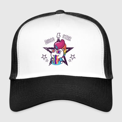Disco Star Unicorn Rainbow Vomit per bambini, Baby - Trucker Cap