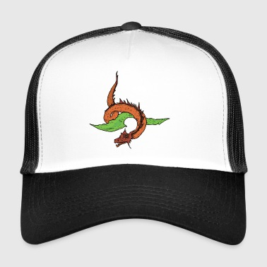 Flying Drage Dino lang hals - Trucker Cap