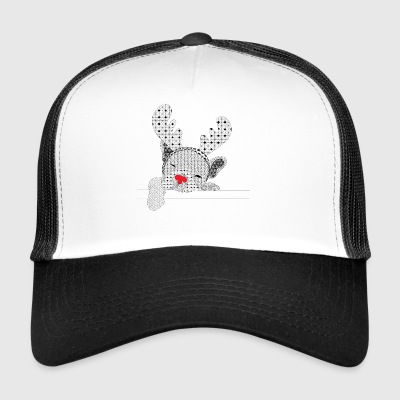 Christmass bulldog nez rouge - Trucker Cap