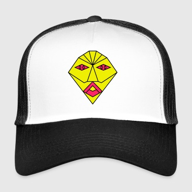 yellow mask - Trucker Cap