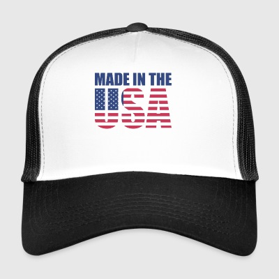USA America Flag Stars and Stripes Made in USA - Trucker Cap