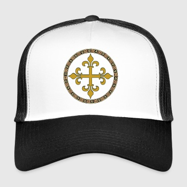 croix celtique en or - Trucker Cap