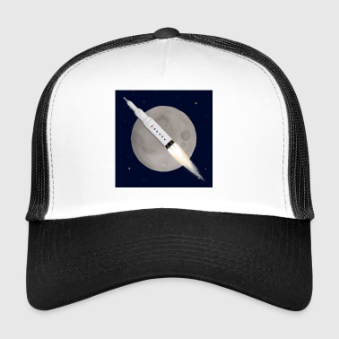 Moon W/Background - Trucker Cap