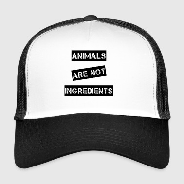 animales no son ingredientes - Gorra de camionero