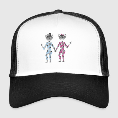 Robot couple - Trucker Cap