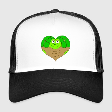 Heart tortoise colored - Trucker Cap