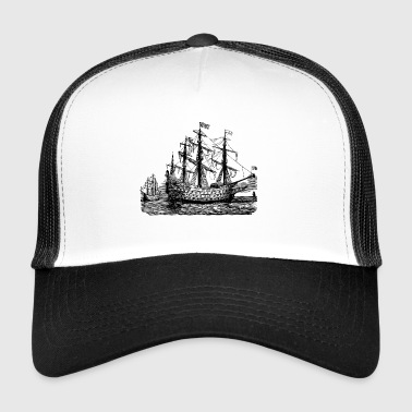 Segelschiff Illustration - Trucker Cap