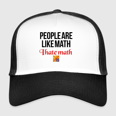 I hate math - Trucker Cap
