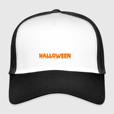 Trick or treat illustration chat chat - Trucker Cap