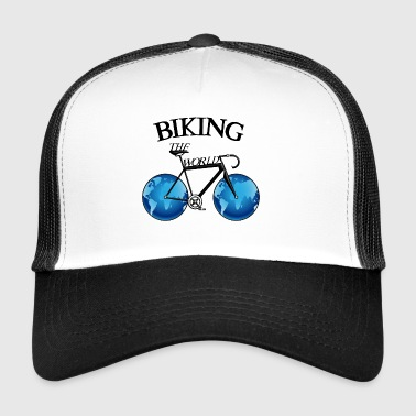 Bike, road bike, sports bike around the world. - Trucker Cap