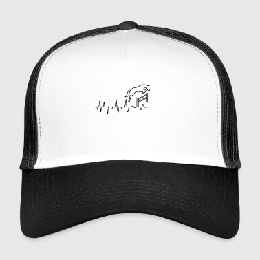Horse riding heartbeat gift - Trucker Cap