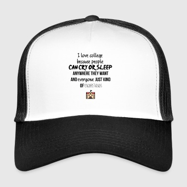 J'adore l'université - Trucker Cap