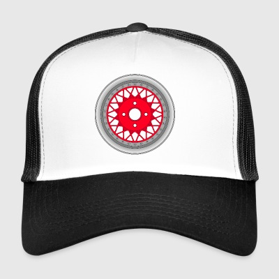 old_wheel_red_2 - Trucker Cap