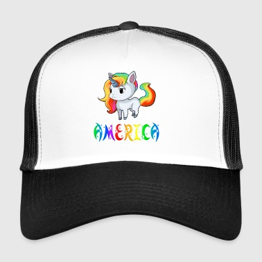 Unicorn Amerika - Trucker Cap