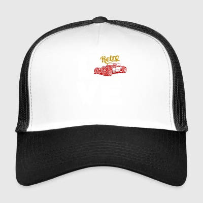 Love retro hot rod vintage old school gift - Trucker Cap