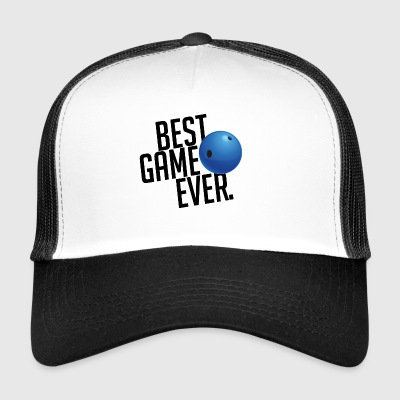 BEST GAME EVER Bowling Strike Gift Spare Track - Trucker Cap