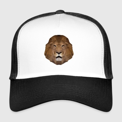 Lions Head low-polygoon effect - Trucker Cap