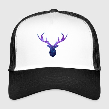Cerf Low Poly Cosmos - Trucker Cap
