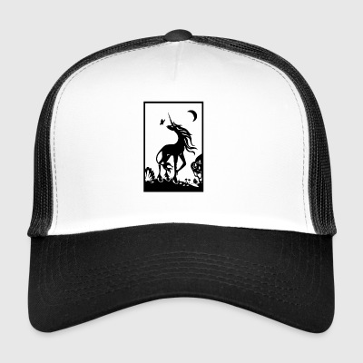 Jemba the unicorn under the moon - Trucker Cap