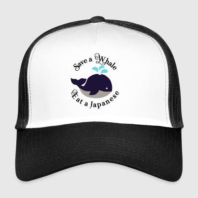 Japan whale fish animal welfare conservation eco vegan - Trucker Cap
