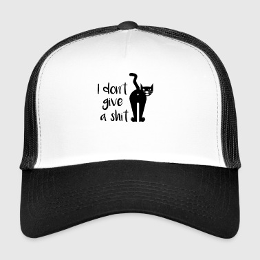 I dont give a shit / angry cat - Trucker Cap