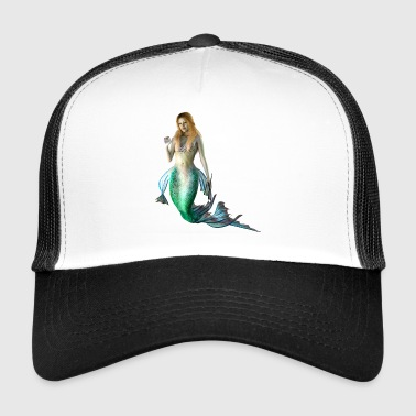 Mermaid sexy naked woman as a gift idea - Trucker Cap