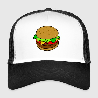 Burger Hamburger fast food idea regalo pasto - Trucker Cap