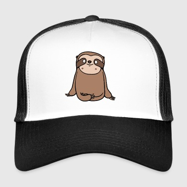 Sloth djurvän illustration tecknad gåva - Trucker Cap