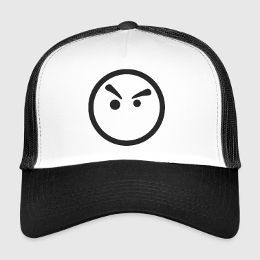 Smiley angry - Trucker Cap