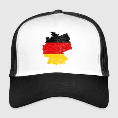 Germany national team map vintage - Trucker Cap