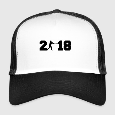 Gift 2018 nyttår baseball homerun base 2 - Trucker Cap