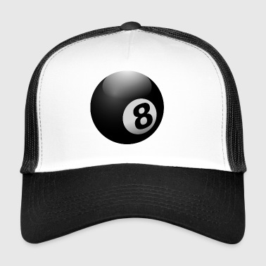 boule de billard 8 Ball Noir - Trucker Cap