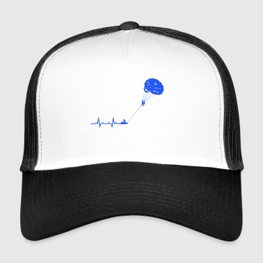 Heartbeats Paragliding Sports T-shirt - Trucker Cap