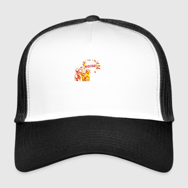 Funny Heartbeats Love for Boxing Sports - Trucker Cap