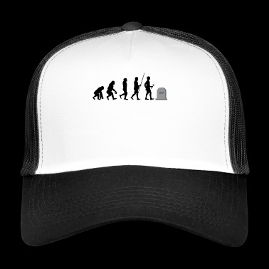 Evolution to death t-shirt gift - Trucker Cap