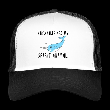 Narvali Spirit Animal idea regalo di frutti di mare - Trucker Cap