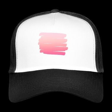 Conception de peinture simple rose simple - Trucker Cap