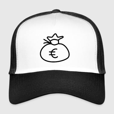 Money Sack Euro Gift Idea Wealth - Trucker Cap