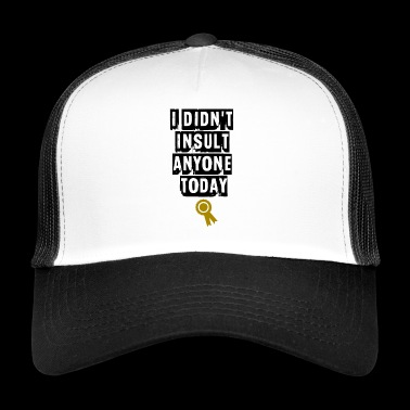 i didnt insult any one - Trucker Cap