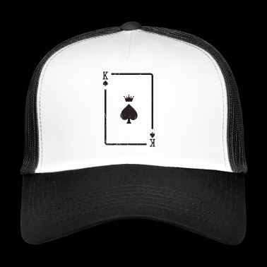 Karta do gry Pik King Gift Card Poker Skat - Trucker Cap