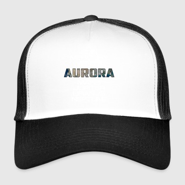 Solar System Planet Earth Aurora Gift - Trucker Cap