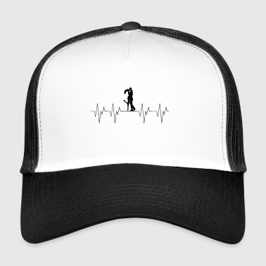 amour amour couple couple amour amour heartbeat - Trucker Cap