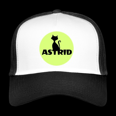 Astrid name cat full moon name day - Trucker Cap