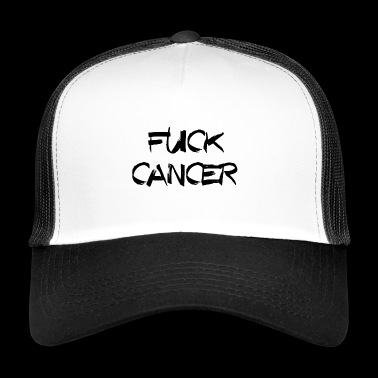 FUCK CANCER KREBS CHEMO RIBBON - Trucker Cap