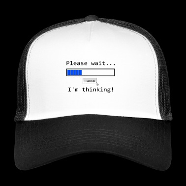 please wait loading bar Loading - Trucker Cap