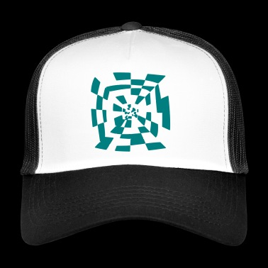 Surreal tunnel Abstract path 1c - Trucker Cap