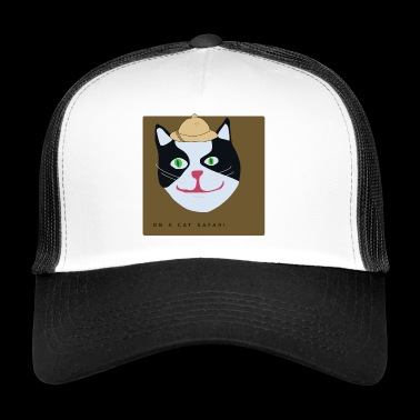 On a cat safari - Trucker Cap