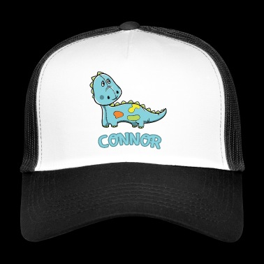 Dinosaur funny kid Connor gift birthday - Trucker Cap