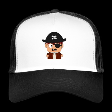 Pirate Corsair eye patch - Trucker Cap